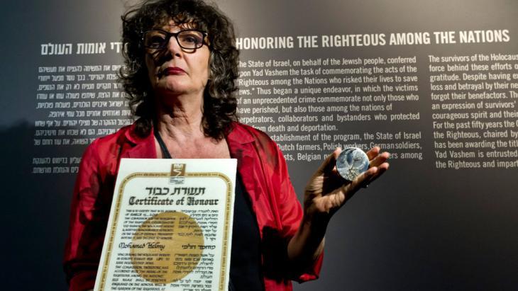 مديرة مؤسسة ياد فاشيم، السيدة إيرينا شتاينفيلد. Foto: picture-alliance/dpa