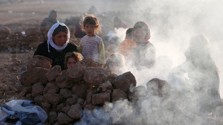 Jesidische Flüchtlinge im Sindschar-Gebirge; Foto: Reuters