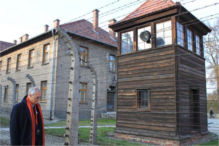 Mohammed Dajani-Daoudi besucht Auschwitz; Foto: privat