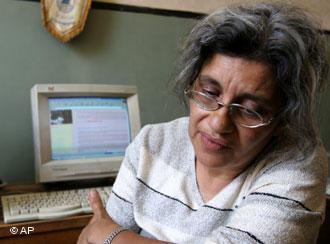 ليلى سويف زوجة المحامي الراحل أحمد سيف الإسلام. Foto: AP