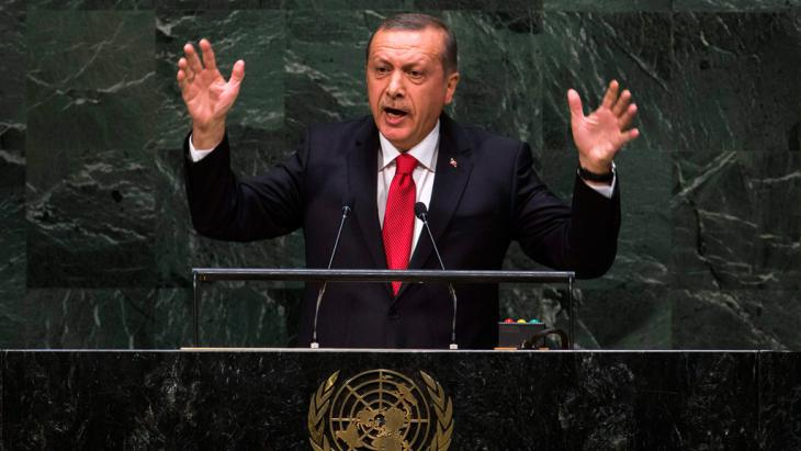 President Erdogan addressing the UN General Assembly (Ruters/Lucas Jackson)