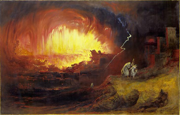 "لوحة فنية حول  قصة سدوم وعمورة. John Martins (1789-1854): ""The Destruction Of Sodom And Gomorrah""; Quelle: Wikimedia Commons"