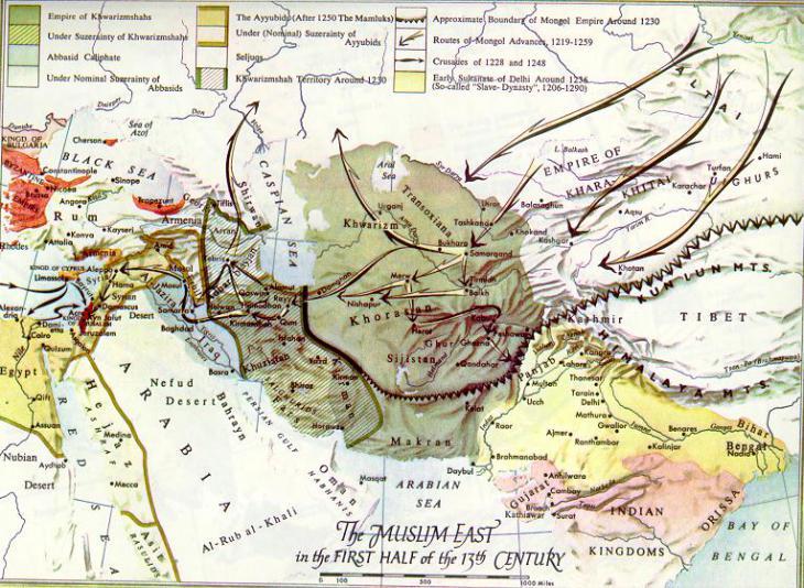 خريطة الدولة العباسية في اقصى اتساعها