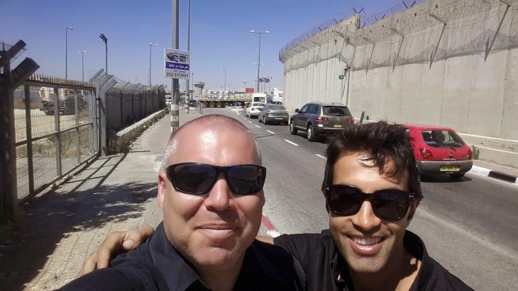 Gonen (l.) und Mossab in Ramallah im Westjordanland; Foto: privat