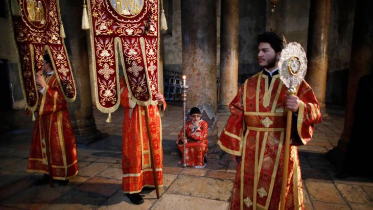 احتفال مسيحي أرثوذوكسي في بيت لحم. Foto: Reuters