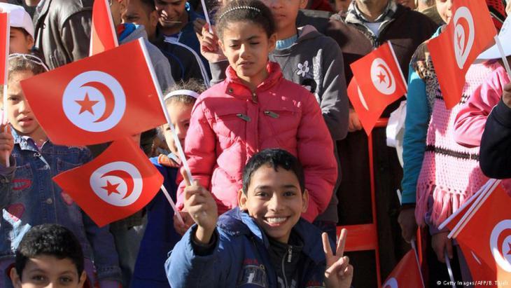 Anhänger den neuen Präsidenten Tunesiens Beji Caid Essebsi in Tunis.