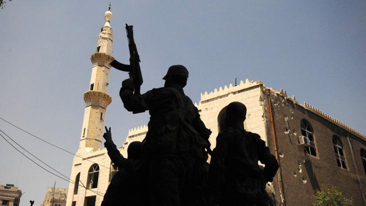 Regierungstruppen Assads im Umland von Damaskus; Foto: Reuters
