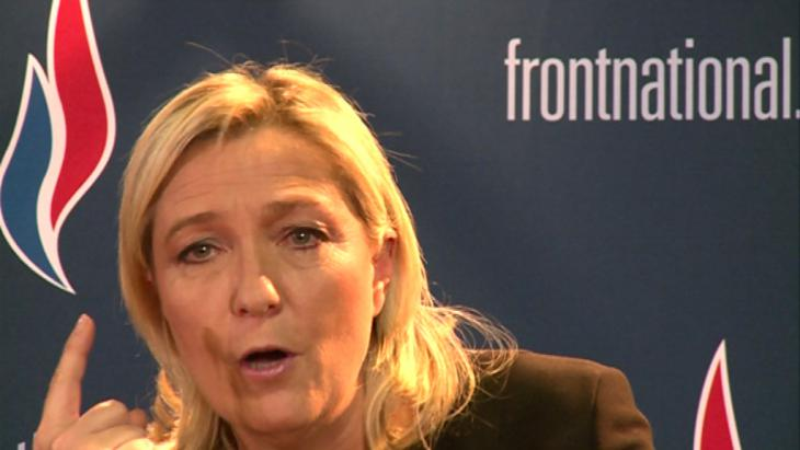 FN-Chefin Marine Le Pen; Foto: DW/M. Luy