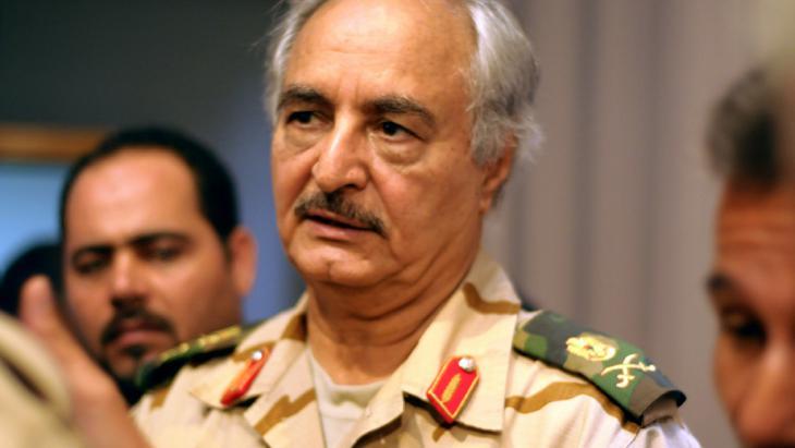 اللواء المتقاعد خليفة حفتر. Foto: picture-alliance/dpa