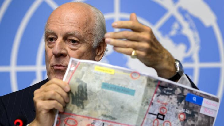 المبعوث الأممي الخاص إلى سوريا، ستيفان دي ميستورا. Foto: Fabrice Coffrini/AFP/Getty Images
