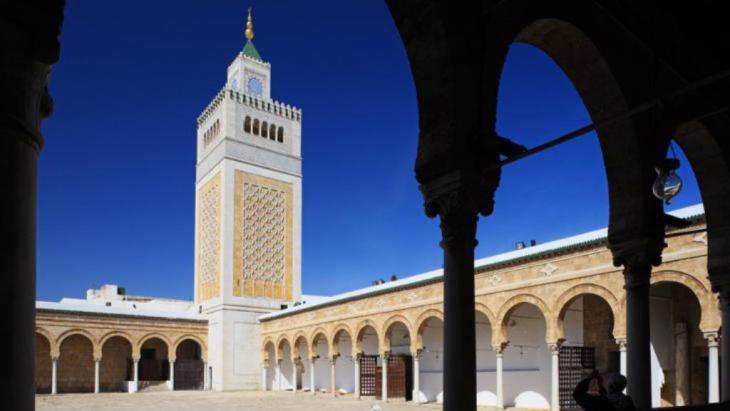 Al-Zitouna-Moschee in Tunis; Foto  جامع الزيتونة في تونس