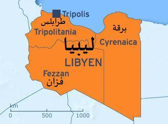 الإمارات الليبية طرابلس وفزان وبرقة. Quelle: DW / qantara.de