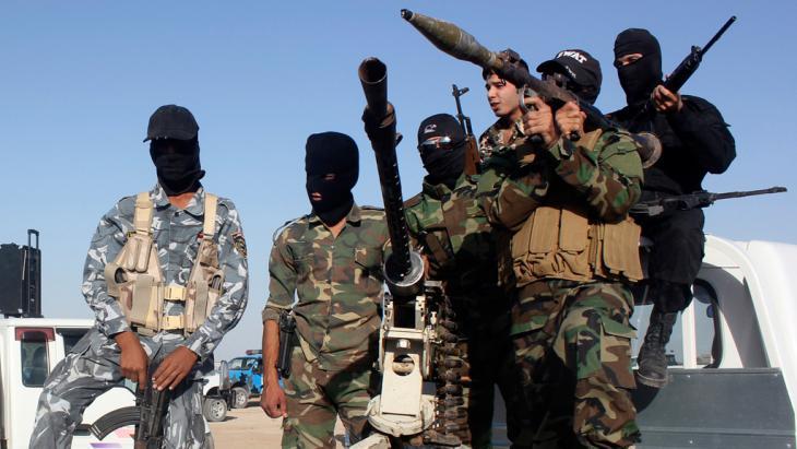 Schiitische Milizen in Kanaan, Diyala-Provinz; Foto: Reuters
