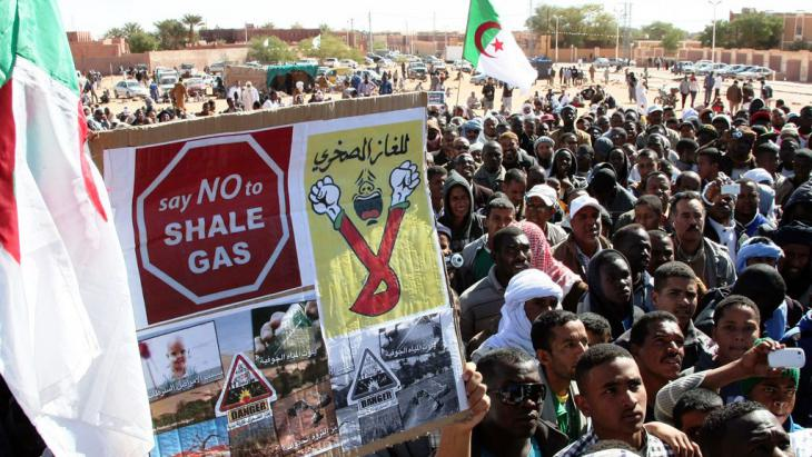 Proteste gegen Fracking im algerischen Ain Saleh; Foto: Billal Bensalem/ABACAPRESS.COM
