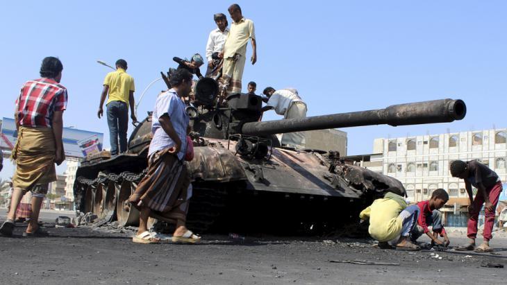 Kämpfe in der südjemenitischen Stadt Aden im Jemen; Foto: Reuters