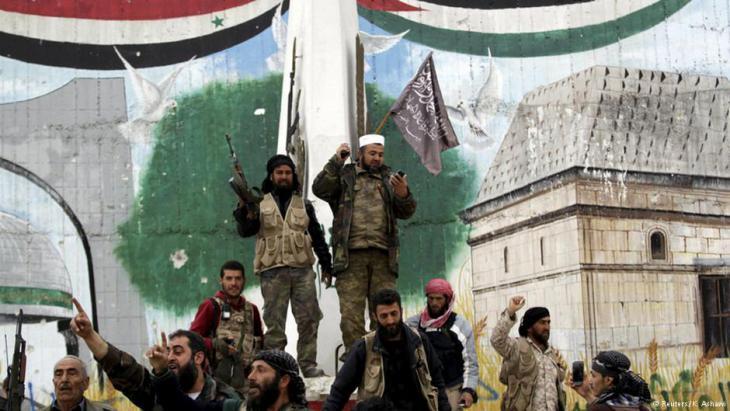 جبهة النصرة في إدلب. Foto: Reuters