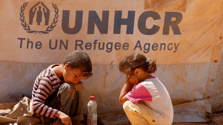 أطفال سوريون لاجئون في مخيم الزعتري في الأردن. Foto: picture-alliance/dpa