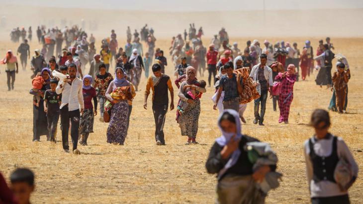 Jesidische Flüchtlinge im Irak; Foto: picture-alliance/AA/E. Yorulmaz