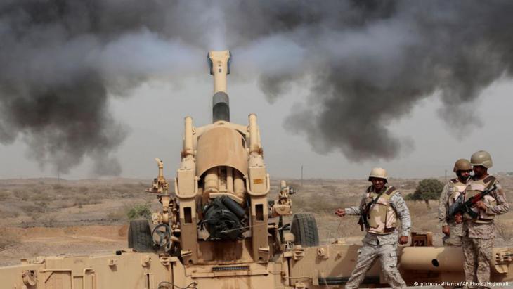 مناوشات عند لحدود اليمنية السعودية منذ بد الغارات الجوية في اليمن