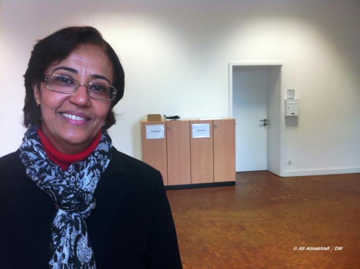 Dr. Amida Sholan, Professorin für Archäologie an der Universität Sanaa, wohnt in Bonn