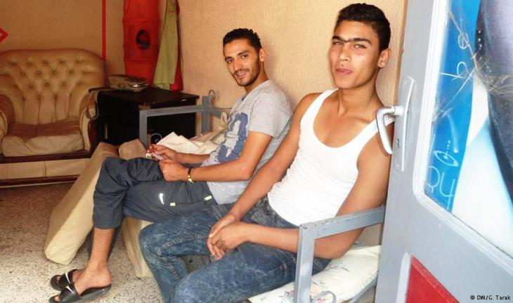 شباب تونسي عاطل عن العمل. Foto: DW/ G. Tarak