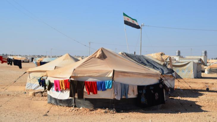 Syrisches Flüchtlingscamp Zaatari in Jordanien; Foto: DW/K. Shuttleworth