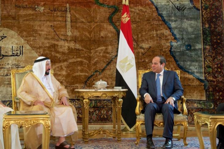 Sultan bin Muhammad al-Qasimi zu Besuch bei Ägyptens Präsident Abdel Fattah Al-Sisi in Kairo; Foto: AP
