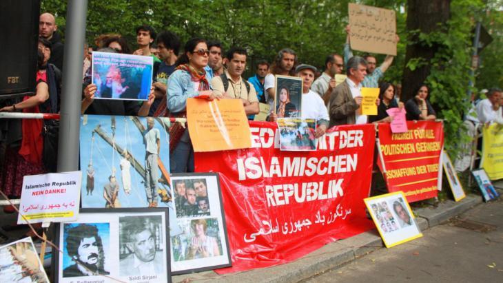 احتجاجات ضد انتهاكات حقوق الإنسان الإيرانية. Foto: DW/M. Mirza