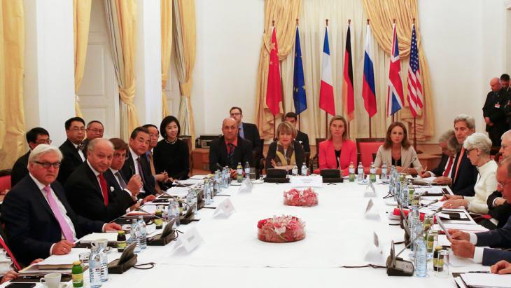 Iran Nuklearprogramm im Palais Coburg, Wien; Foto: Reuters/L. Foeger