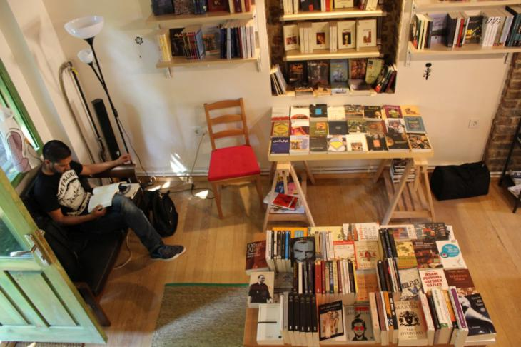 """مكتبة """"صفحات""""  """"Pages"""". Foto: Ekrem Güzeldere"""