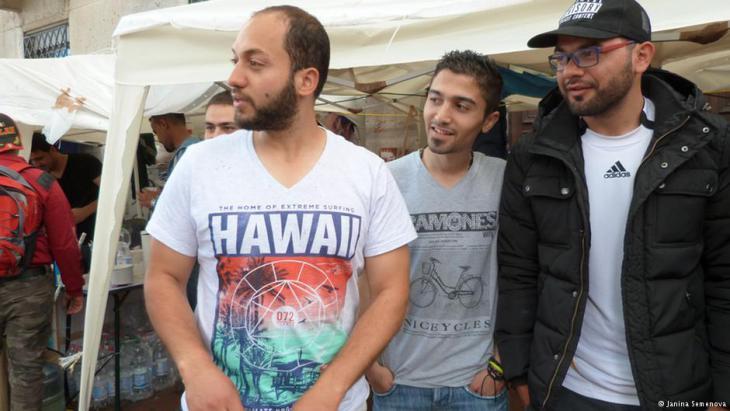Die Flüchtlinge Fadi und Sakher; Foto: Janina Semenova