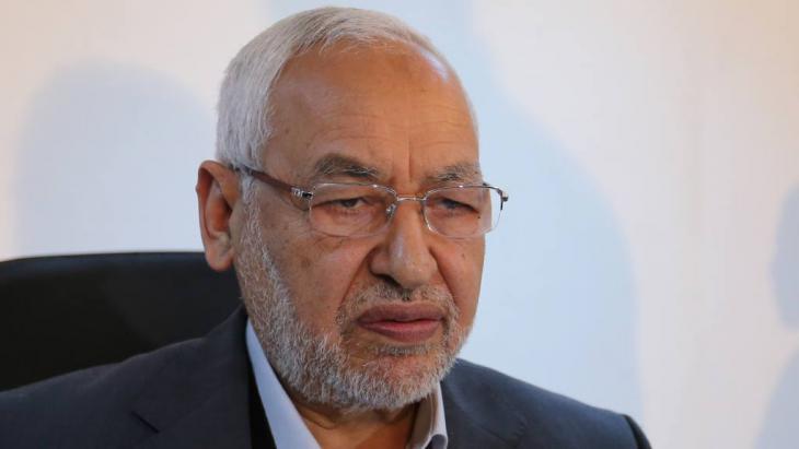 Rachid al-Ghannouchi, Vorsitzender der Ennahdha-Partei; Foto: picture alliance/AA/Y. Gaidi