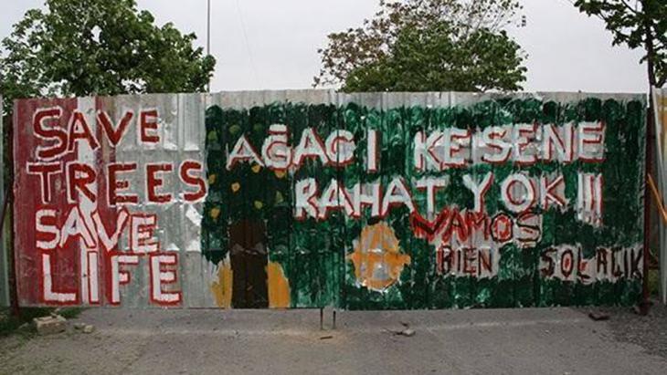 Street Art in der Nähe des Gezi-Parks in Istanbul; Foto: Ali Yildirim