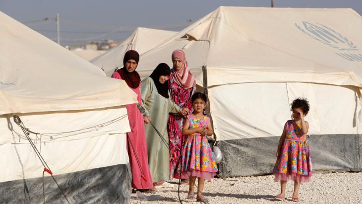 Frauen mit ihren Kindern im Flüchtlingscamp Zaatari in Jordanien. Foto: Getty Images