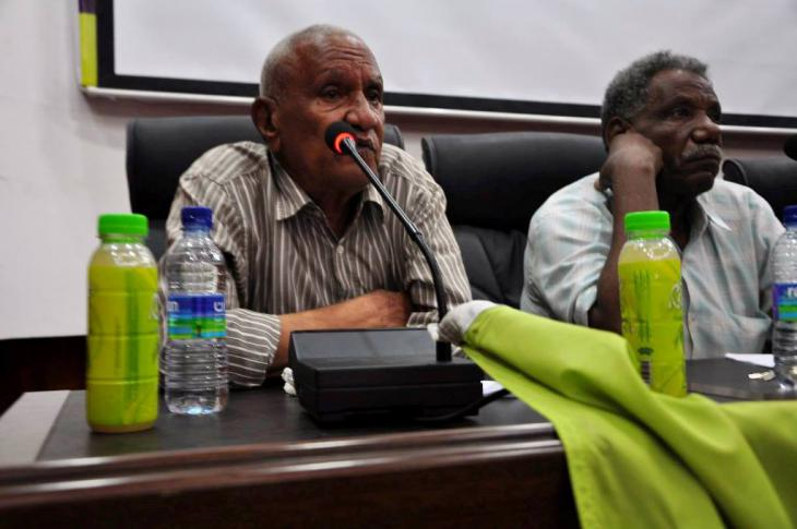 جانب من الندوة التي نظمها معهد غوتة الألماني في العاصمة السودانية الخرطوم لتدشين العدد 103 من مجلة فكرو فن يوم الثلاثاء الموافق 25 / 8 / 2015. Photo: Jamal Ghallap