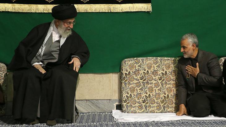 Qassem Soleimani bei Ali Khamenei; Foto: Isna