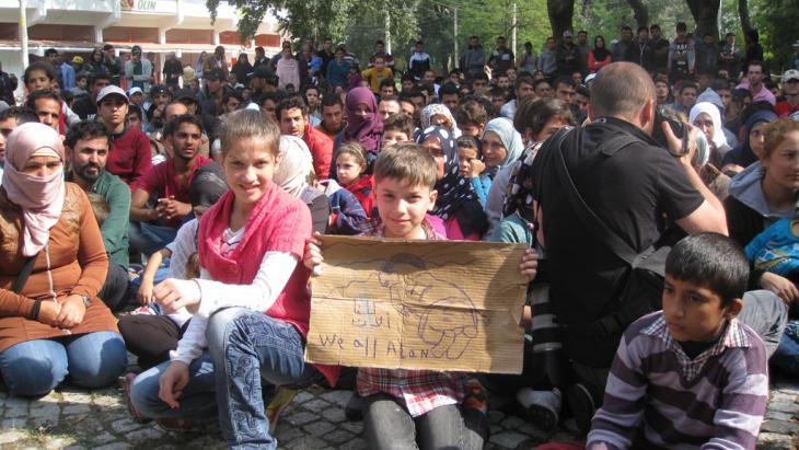 لاجئون في مخيم إيديرنه التركي. Foto: Kürsat Akyol
