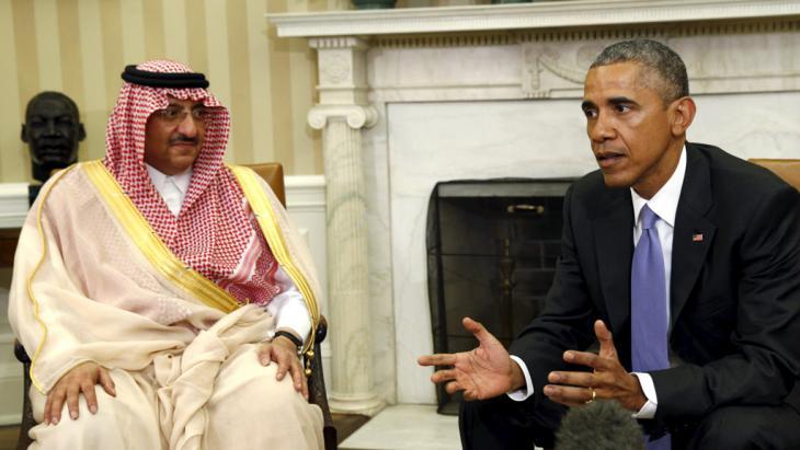 باراك أوباما مع ولي الأمير السعودي محمد بن نايف في واشنطن. Foto: Reuters/K. Lamarque