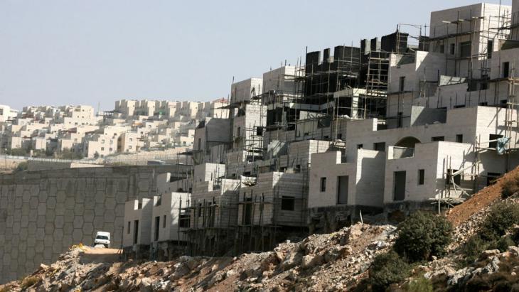مستوطنات إسرائيلية قرب بيت لحم في الضفة الغربية. Foto: picture alliance/dpa