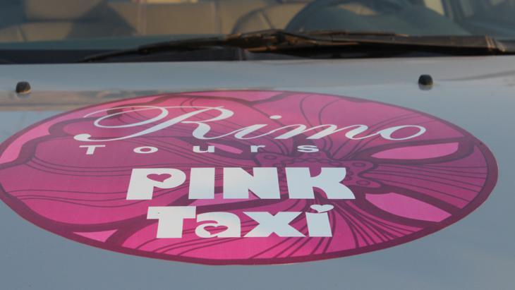 Pink Taxi in Kairo; Foto: DW/E. Lehmann