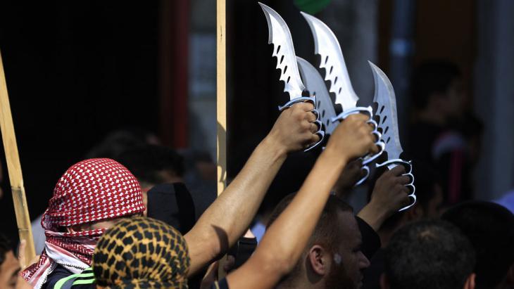 Militante Palästinenser im Flüchtlingscamp Jabalia; Foto: Getty Images/AFP/M. Abed