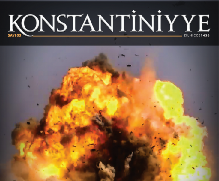 "Cover of the IS Turkish magazine ""Konstantiniyye"""