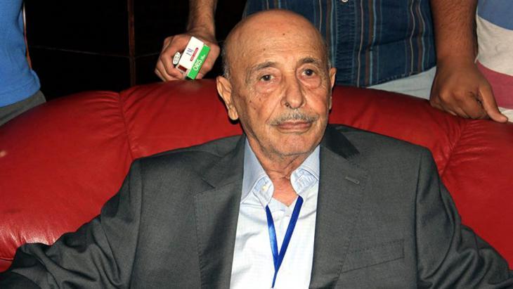 عقيلة صالح رئيس البرلمان المعترف به دوليًا والموجود في مدينة طبرق في شرق ليبيا. Foto: picture-alliance/dpa/Str