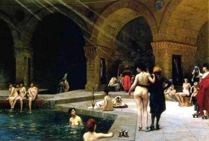 Jean-Léon Gérôme;: Harem Pool; Quelle: privat