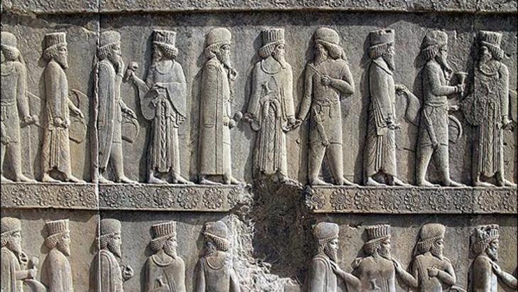 أبادانا (قاعة الاستقبال) برسيبوليس  المقر الصيفي للأخمينين الفارسيين القدماء (الصورة غير مؤرخة)., Foto: MEHR