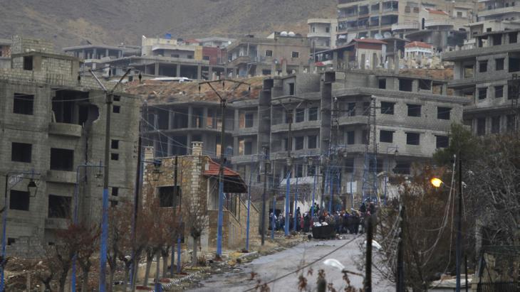 مدينة مضايا السورية المحاصرة. Foto: Reuters/O. Sanadiki