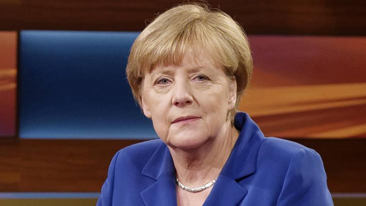 Angela Merkel bei Anne Will; Foto: Imago/J. Heinrich