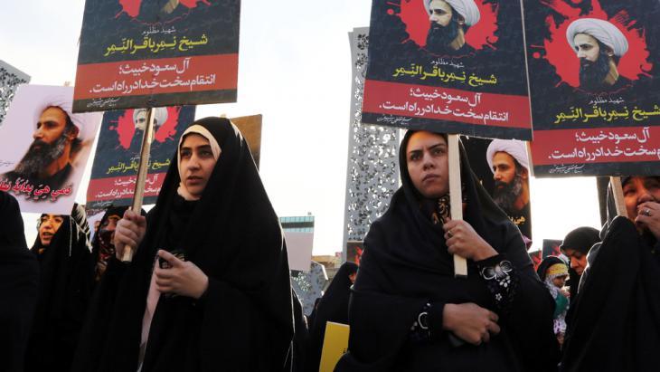 غضب شيعي من إعدام السعودية للمعارض نمر النمر - طهران. Foto: Getty Images/AFP/A. Kenare
