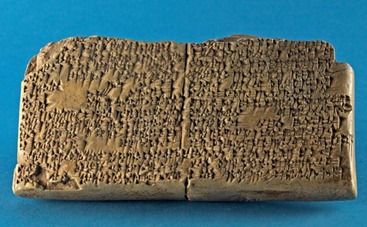 كتابة مسمارية تتحدث عن قصة جلجامش من القرن الــ 17 قبل الميلاد. Johannes Gutenberg-Universität Mainz