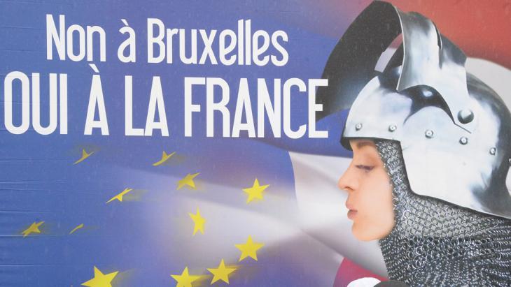 دعاية انتخابية لحزب الجبهة الوطنية الشعبوي في فرنسا.Foto: AFP